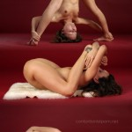 Contortionist porn photos on which cute flexy girls show delights